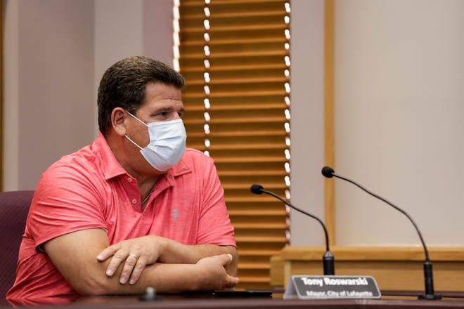 Lafayette Mayor Tony Roswarski was diagnosed with COVID-19 on Nov. 17, 2020.