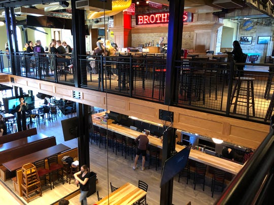 The second floor of Brothers Bar and Grill overlooks the first floor.  It is reopening on Oct. 8, 2020 at  1213 N. Water St.