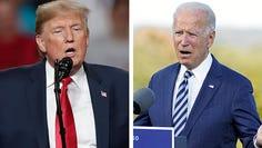 President Donald Trump, left, and former Vice President Joe Biden, right