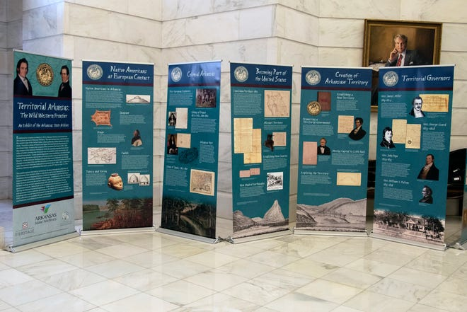 """The traveling exhibit """"Territorial Arkansas"""" will be on display at the Baxter County Library from Oct. 9 through Nov. 4."""