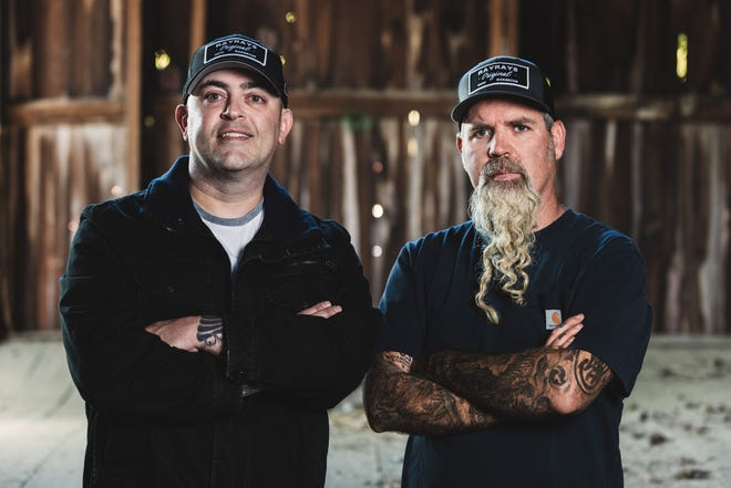 From left, Columbus chef Bill Glover and James Anderson, owner-founder of Ray Ray's Hog Pit, and Granville-based Anderson Farms in Granville. The two have partnered to open a new BBQ restaurant on Columbus Road early in 2021.
