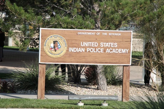 U.S. Department of Interior Secretary David Bernhardt visited the United States Indian Police Academy in Artesia on Oct. 6, 2020.