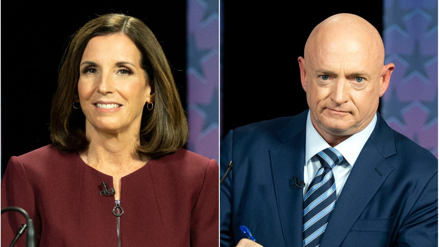Trump 'pisses' McSally off with McCain comments: Top moments from debate with Mark Kelly in battleground Arizona