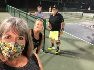 My friend Rhonda Rhiner and cousin Theresa Gotter, both tennis players, wanted to play pickleball. As for me, I'd read pickleball was popular among older people. How hard could it be?