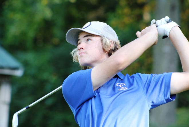 Cedar Crest freshman Ben Feeman captured the individual championship at the Lebanon County Golf Championships Tuesday, shooting a 76 and beating Annville-Cleona's Simon Domencic in a playoff for the title.