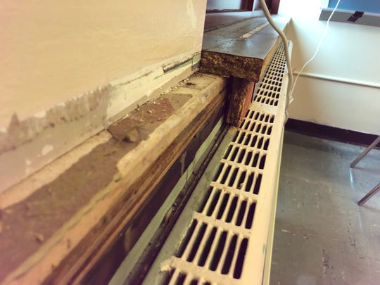 A heater is shown in Poughkeepsie High School.