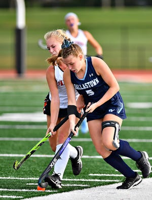 Dallastown's Lilly Cantabene, front, scored three goals over the weekend in a pair of wins for the Wildcats.