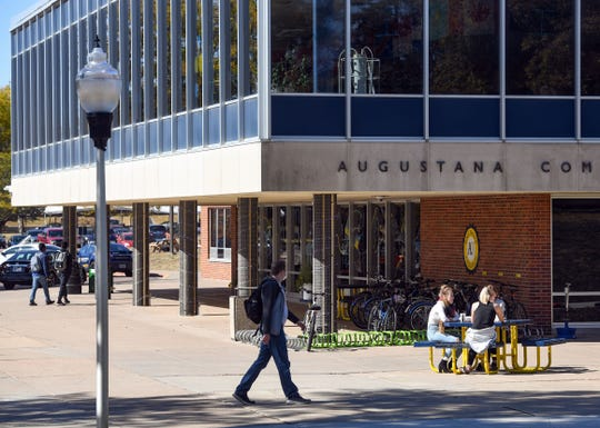 Students live and work on campus on Wednesday, October 7, at Augustana University in Sioux Falls.