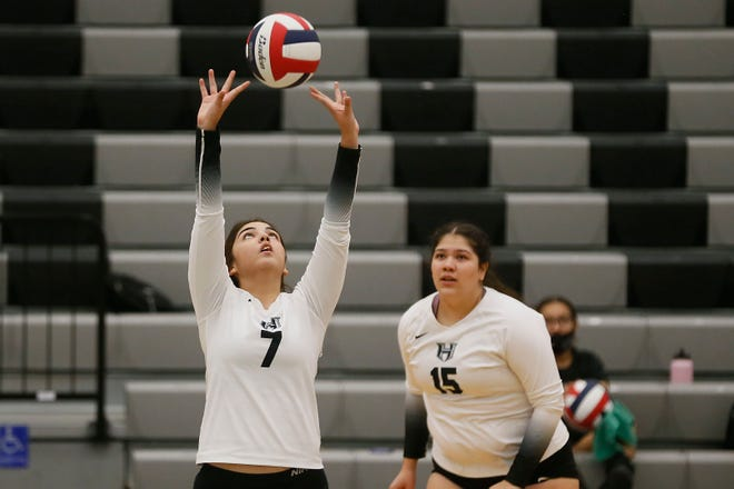 Horizon's Kailey Dominguez during the game against Parkland Tuesday, Oct. 6, at Horizon High School.