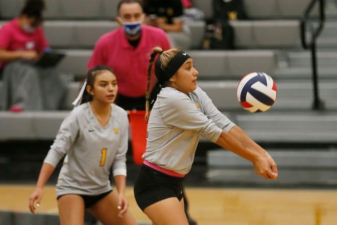 Parkland's Alexis Torres (11) during the game against Horizon Tuesday, Oct. 6, at Horizon High School.
