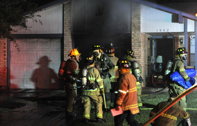Wichita Falls firefighters worked to control an early Wednesday morning house fire on Eden Lane.