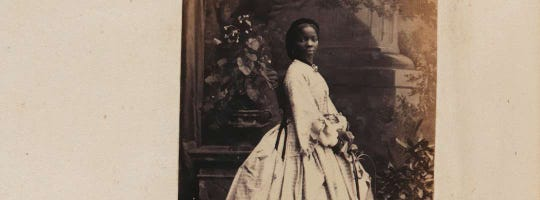 A photograph of Sarah Forbes Bonetta is on display at the National Portrait Gallery in London.