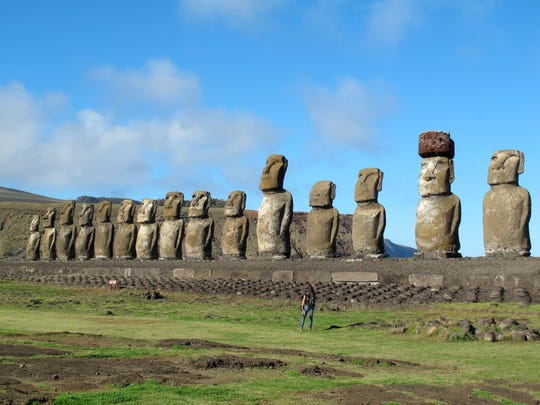 Easter Island is a tiny speck in the vast Pacific Ocean renowned for its imposing moai — giant heads carved from volcanic rock by inhabitants hundreds of years ago.
