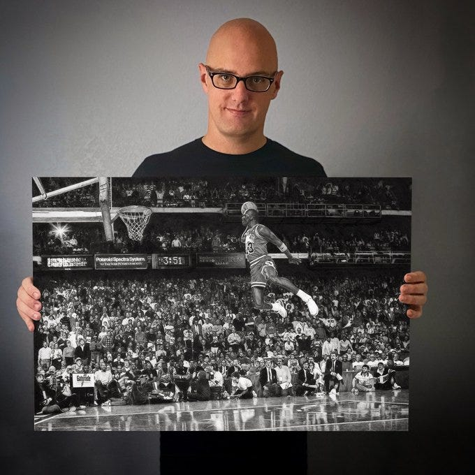 Meet the artist who completed Michael Jordan 'Taking Flight' pencil drawing in 250 hours