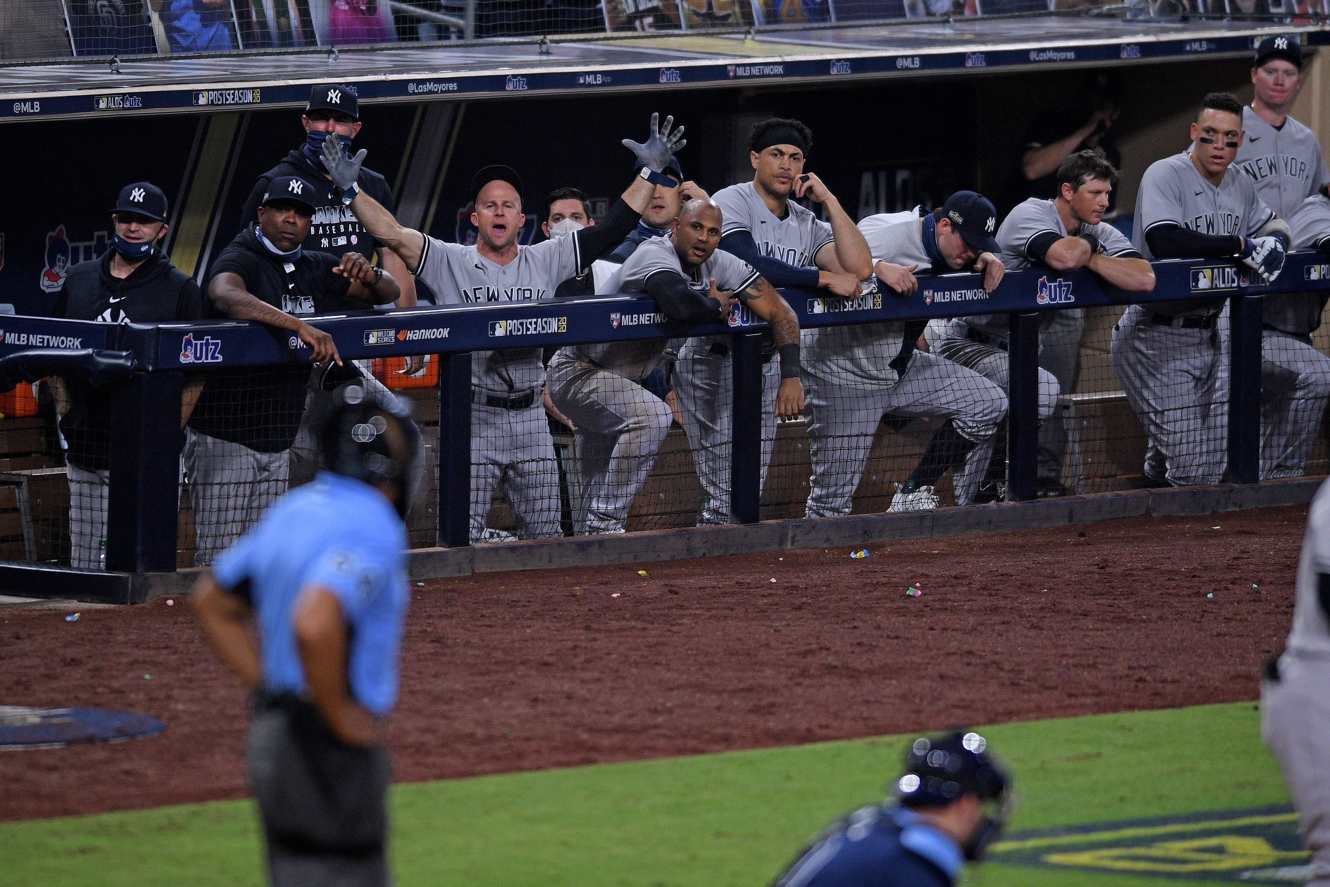 Home plate umpire CB Bucknor struggled in Yankees-Rays ALDS Game 2. Here's proof.