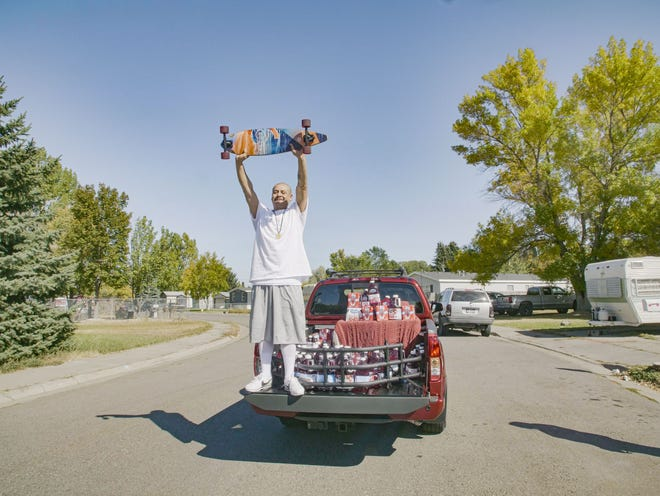 TikTok star Nathan Apodaca, 37,was visited by a representative from Ocean Spray with a 2020 Nissan Titan PRO-4X and a trunk full of Ocean Spray.