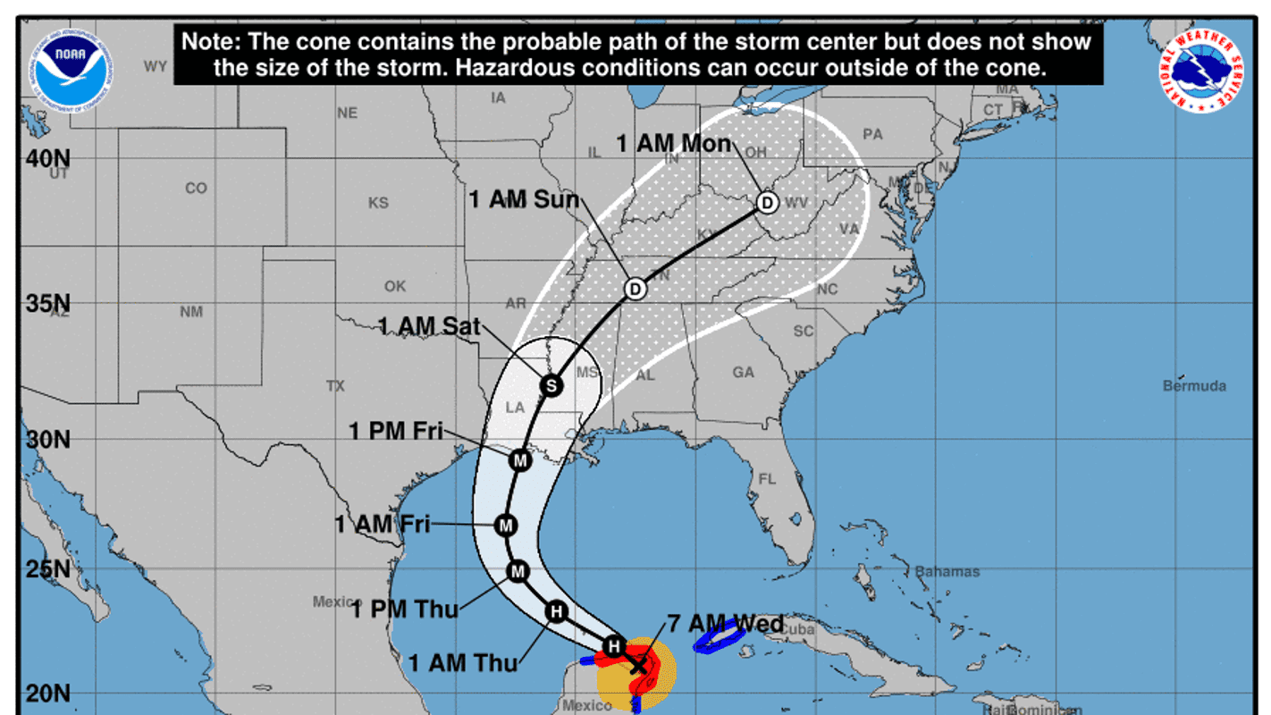 Hurricane Delta makes landfall in Mexico forecast to hit US Gulf Coast on Friday – USA TODAY