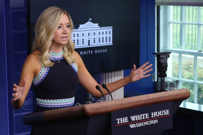 White House Press Secretary Kayleigh McEnany White House Press Secretary Kayleigh McEnany revealed that her test was positive for the coronavirus on October 5, 2020.