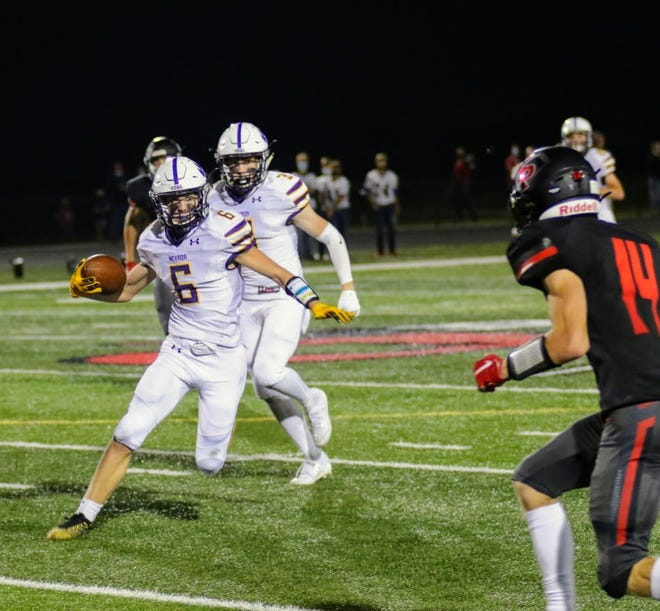 Caleb Kooiker (6) and Nevada will be playing for the Class 3A District 7 championship this Friday. The Cubs take on Pella at Cub Stadium in Nevada.