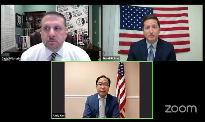 NJ 3rd Congressional District candidates Andy Kim and David Richter participate in an online debate hosted by the New Jersey Globe and moderated by David Wildstein.