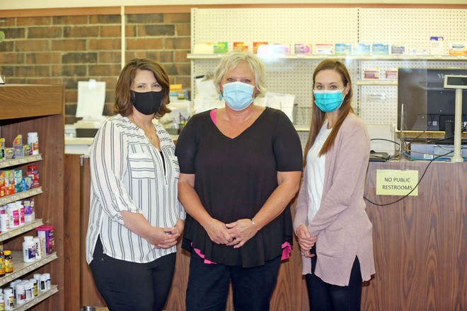 Medical Arts Pharmacy in Boonville now will be known as Summers Pharmacy. All staff members were retained in the transition, including, from left, staff pharmacist Peggy Armentrout, pharmacist in charge Kristy Morris and staff pharmacist Robyn Smith.