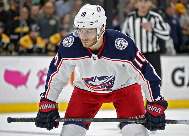 The Blue Jackets put center Alexander Wennberg on waivers Thursday for the purpose of buying out his contract, a move that will recoup $4.9 million a year against the NHL's salary cap for the next three seasons.