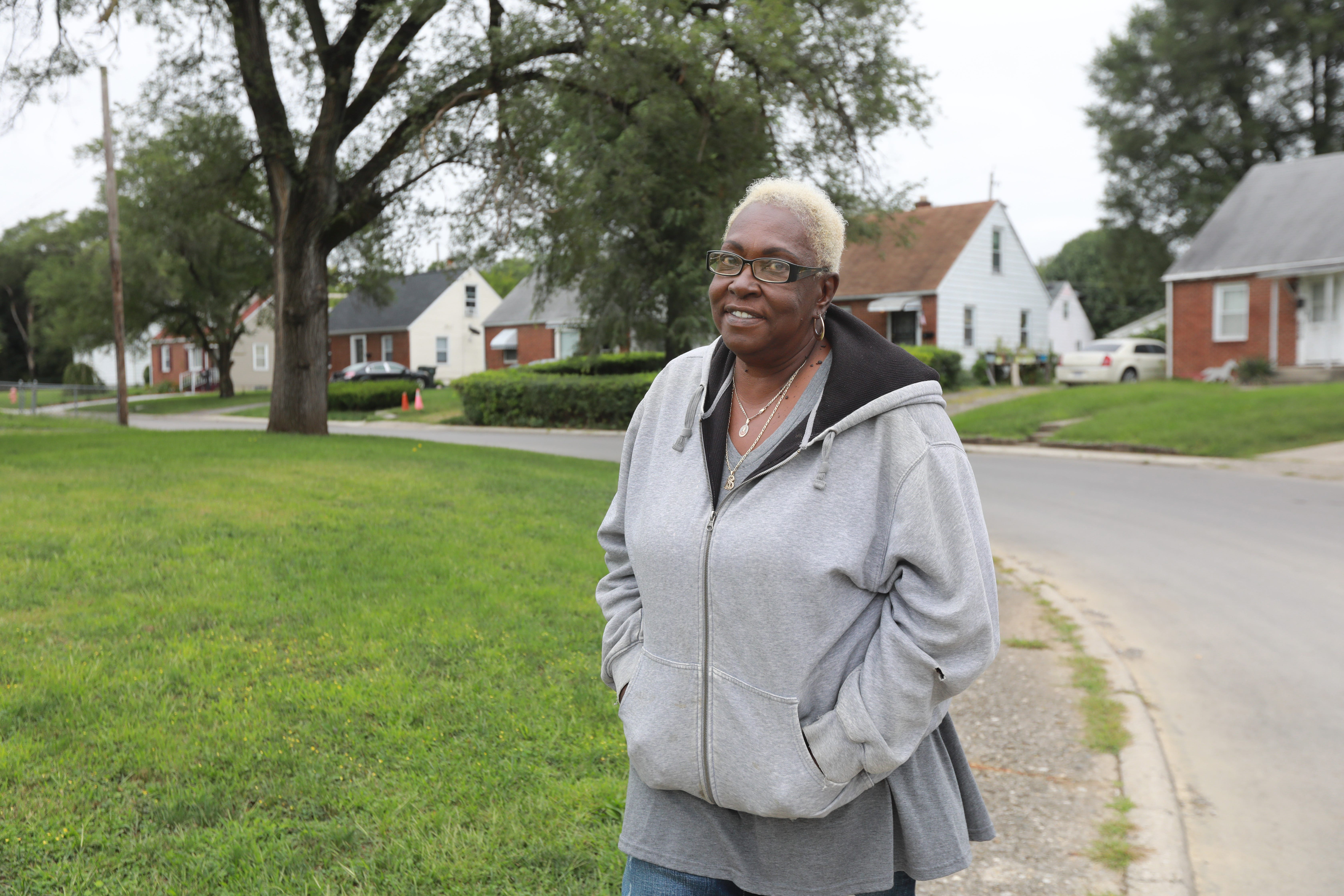 Shirley Mixon, 71, grew up in the predominantly Black neighborhood Hanford Village and saw it divided by the construction of I-70 in the 1960s.
