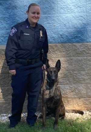 Officer Michele Robinson and her K9 partner, Dax, have completed training to be added to the Lexington Police Department's K-9 Unit.