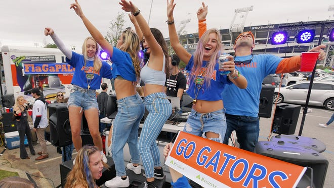 This year's Florida-Georgia game on Nov. 7 may or may not include the usual mass tailgate party in city-owned parking lots