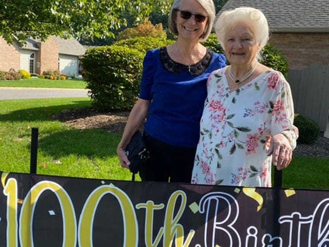 Juanita Curtis Slovisky celebrated her 100th birthday last month with a car parade at her Cuyahoga Falls Home.