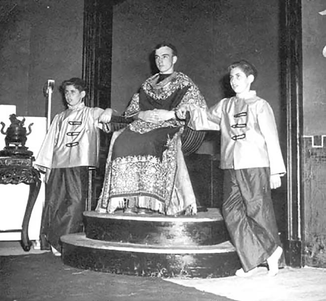 "Proctor High School Dramatic Club's presentation of ""Lost Horizon"" in 1951. From left: Richard Chancia, Mike Fanelli and Robert Chancia. [Submitted photo]"