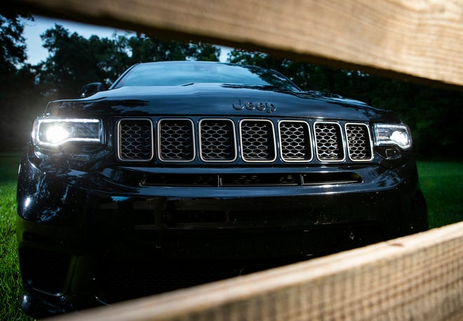 The seven-piece honeycomb grill inserts are among the features that show this is not just an ordinary Jeep Cherokee.