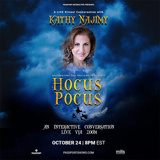Join actress Kathy Najimy live via Zoom for a moderated discussion on Friday.