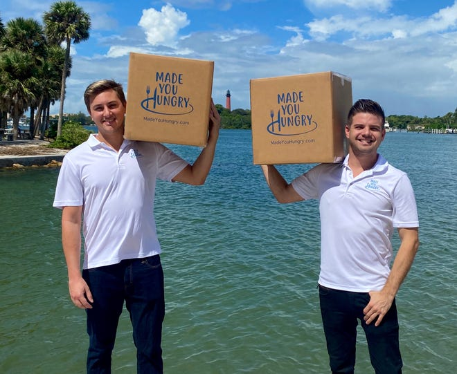 Joey Johnson, left, and Josh Smith, founded Jupiter-based Made You Hungry a year ago.