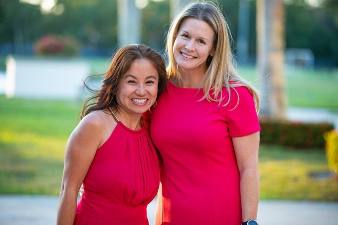Impact the Palm Beaches 2020 2021 Co-Chair Elizabeth Troung (left) and Chair, Jennifer M. Eaton.  The philanthropic organization of local women works to spur transformational change through collective giving. It is now accepting preliminary grant applications from nonprofit organizations inPalm Beach County.