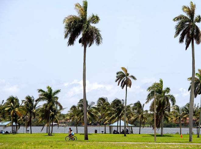 Currie Park in West Palm Beach sits on the waterfront at 2400 N. Flagler Drive.