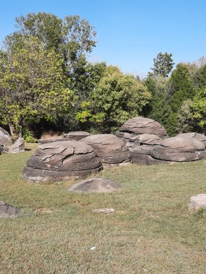 Huge boulders worn smooth and etched with lines from ocean waves long ago are accessible at Minneapolis and Rock City, a day trip away from most parts of Kansas.