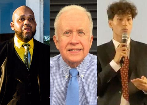 Here are the candidates running for city council in Ward 4; Sam Jean (left), Charles H. Cuthbert (middle), Marcus Omar Squires (right).