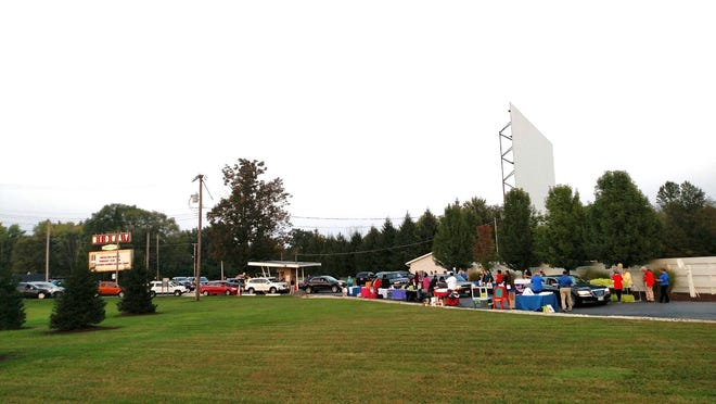Supporters arrive at the Portage County United Way kickoff at Midway Drive-in Theater.