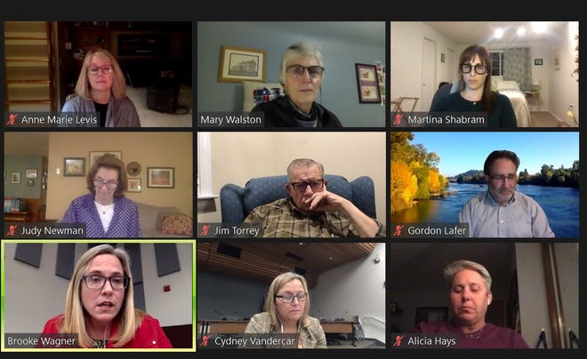 4J school board holds a virtual meeting in October 2020