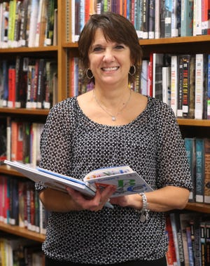 Deb Leitch, a kindergarten teacher with Fairless Digital Academy, is the Walsh University Teacher of the Month for October. Leitch was photographed Wednesday at Fairless High School.
