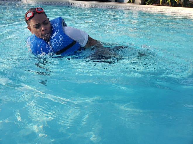 Reggie Tolbert of St. Augustine needed to pass a swim test to join the police academy. In less than 10 lessons with FAST Swim Stars, he completed all aspects of his training.