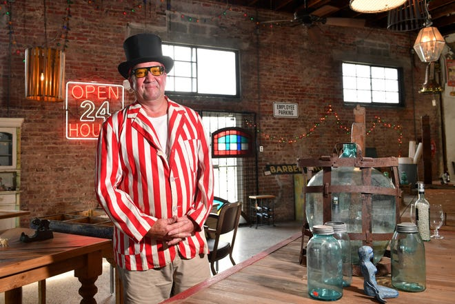 """Greg Pemberton opened Circus City Architectural Salvage at 10th Street and Central Avenue roughly 10 years ago. """"The store has been awesome. It's like a mini circus every weekend here,"""" Pemberton said."""