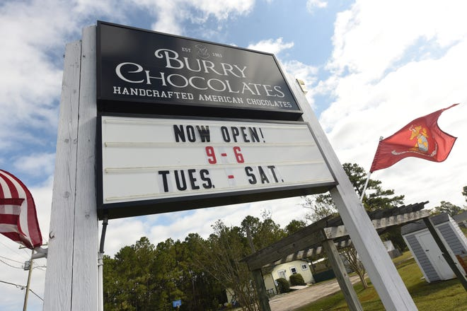 Many new businesses have opened recently in Pender County like Burry Chocolates that opened at the end of August the family run candy shop is located at 21572 off US-17 near Hampstead.