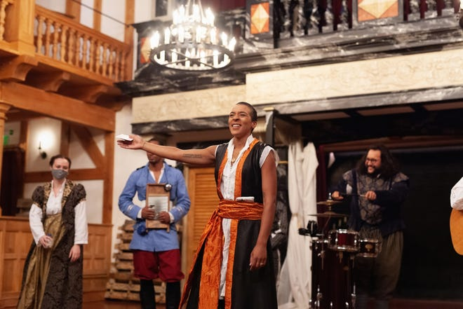 """Jessika D. Williams and the ensemble of the American Shakespeare Center's """"Othello,"""" streaming via the Lewes Public Library the week of Oct. 12-18."""