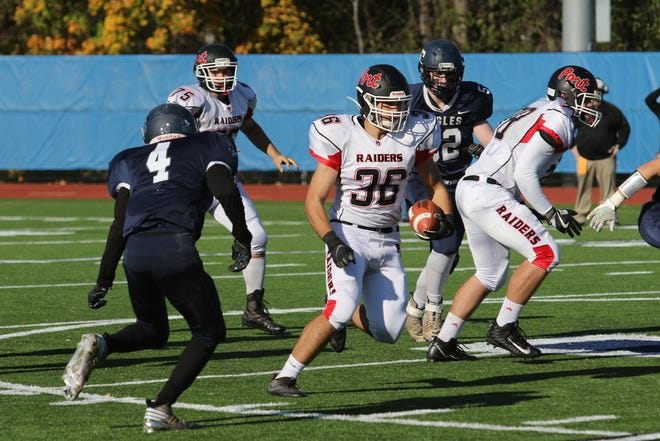 Port Jervis senior running back Colby Elston was recently selected as Great American Rivalry Series scholar athlete. Elston, the team's leading rusher in 2019, carries a 94 class average. JIM SABASTIAN/FOR THE TIMES HERALD-RECORD