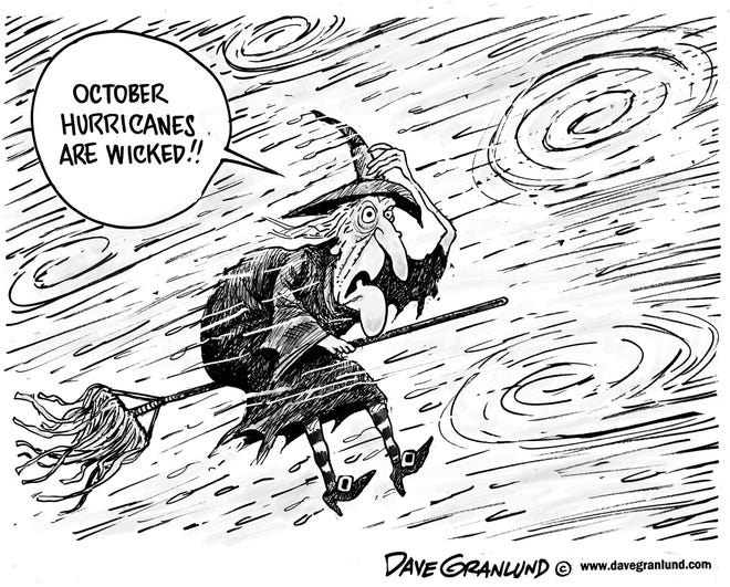October hurricanes are wicked. Dave Granlund.