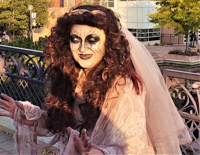 As the creepy La Llorona, Jamilee Romero is a highlight of the annual Historical Ghost Walk, a domestic violence awareness fundraiser.