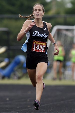 Madison Brokaw and the Darby boys and girls cross country teams compete in the OCC-Cardinal Division meetSaturday, Oct. 17, at Pickerington Central.