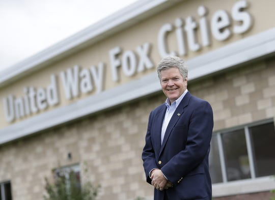 United Way Fox Cities CEO and President Peter Kelly, who is retiring after serving 23 years, stands in front of the nonprofit Monday, September 28, 2020, in Menasha, Wis. Dan Powers/USA TODAY NETWORK-Wisconsin